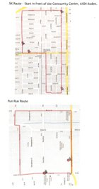 West U Halloween Fun Run Route Map
