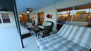 6577 Waterford Circle in Sarasota - Lanai with new pool cage