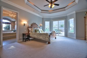 Master suite in this Hollister home for sale