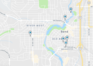 Map Home Search Bend Oregon
