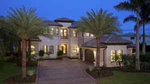 palm beach county fl homes house night
