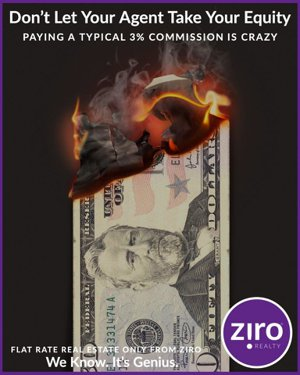 low flat rate listing fees with ziro will save you thousands