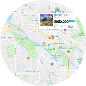 boise map search - real estate