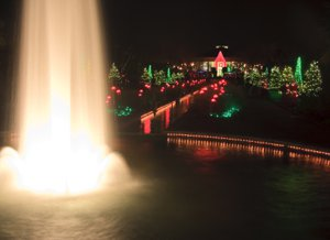 Daniel Stowe Gardens at Christmas Belmont NC