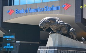 Bank of America Stadium in Charlotte NC