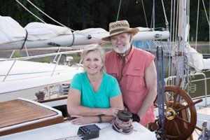 Couple at Lake Wylie Yacht Club