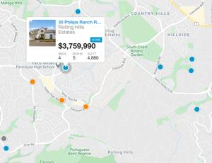 rolling hills estates ca map