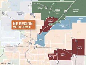 Map of NE Metro Denver