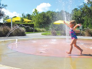 Splashpad in Harmony Florida