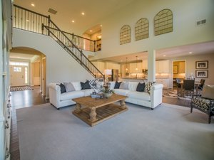 Two story family room
