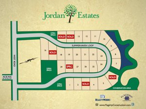 Site Map of Jordan Estates