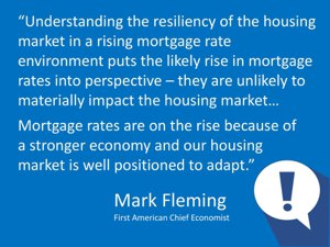 On Mortgage rates increase - Mark Fleming