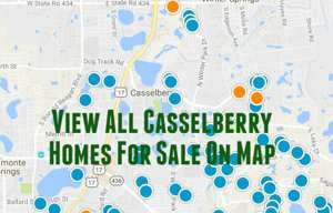 Map of All Casselberry Homes For Sale