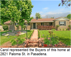 Carol sold 1080 Valley View Avenue, Upper Hastings Ranch, Pasadena, California