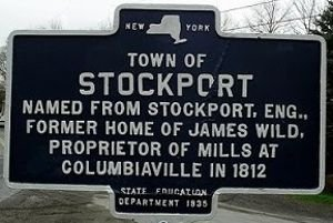 Stockport Homes for Sale New York sign