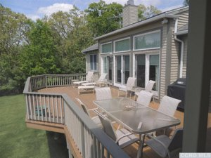 Copake New York Real estate deck