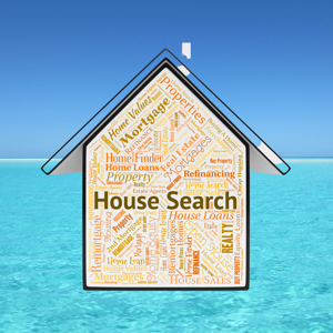 House Search word montage