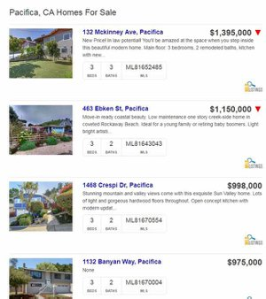 Cluster image of 3 bedrooms 2 bath homes for sale in Pacifica
