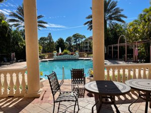 The heated pool at 4130 Central Sarasota Parkway for sale on Palmer Ranch Living Room