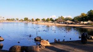 Surprise AZ Lake Rural Fishing