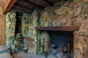 Rustic Big Sur fireplace