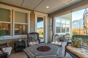 Covered Loggia in an East Garrison home for sale