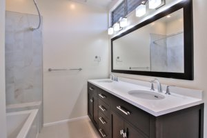 Bathroom remodel in Monterey ocean view home for sale