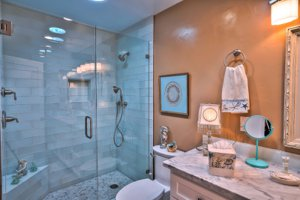Monterey Beach Cottage bathroom