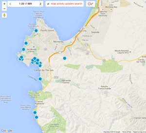 Interactive Map search of Monterey Peninsula MLS Listings