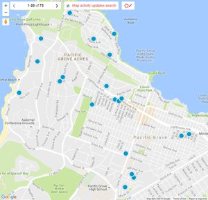 Pacific Grove Interactive Real Estate Map