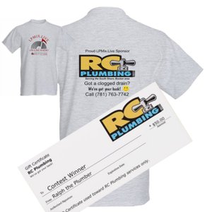 Gift-Certificate and T-Shirt from RC Plumbing