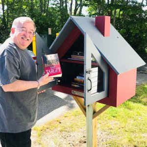 Little Free Library at Real Estate Door