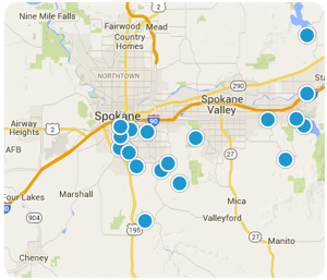 Search Spokane Homes By Map