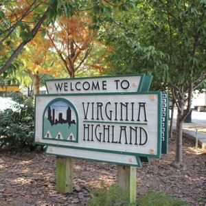 Welcome to Virginia Highlands sign