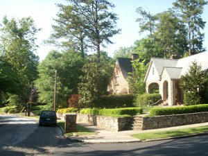 Photo of typical Morningside real estate - a tudor style historic house.