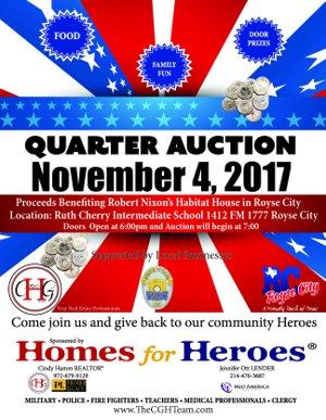 Quarter Auction November 4th