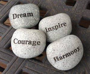 Inspirational painted rocks