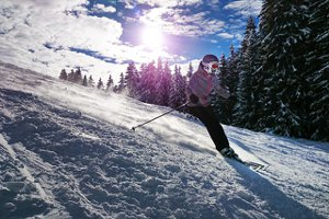 Snow Skiiing Sunrise Ski Resort