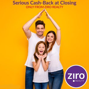 Cash back at closing from Ziro Realty Windermere