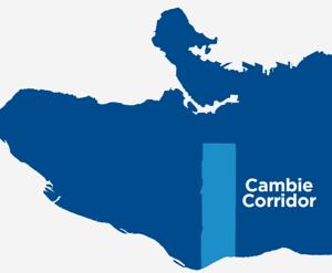 Vancouver's Cambie Corridor Location Map