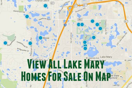 Map of Lake Mary Homes For Sale