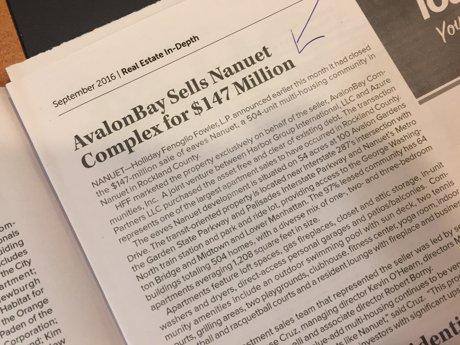 Nanuet Aparment Complex sells for big dollars
