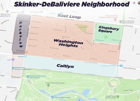 Skinker DeBaliviere Map