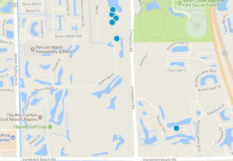 Tiburon Golf Resort Home Search Map