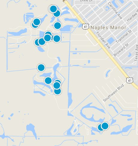 Treviso Bay Home Search Map