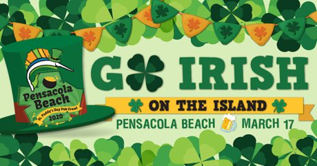 St. Paddy's Day Pub Crawl, Pensacola Beach FL
