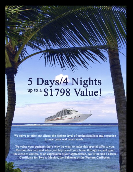 Midpoint Realty Luxury Cruise for two offer Cape Coral real estate capecoralfllistings.com