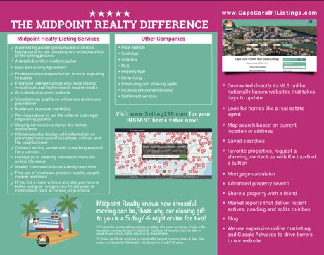 Midpoint Realty Cape Coral Brochure (Outside view)