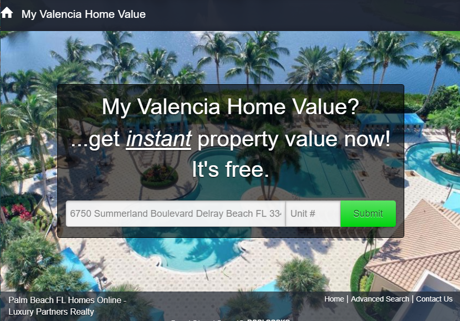 My Valencia Home Value