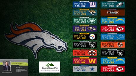 2021 Denver Broncos Regular Season Schedule